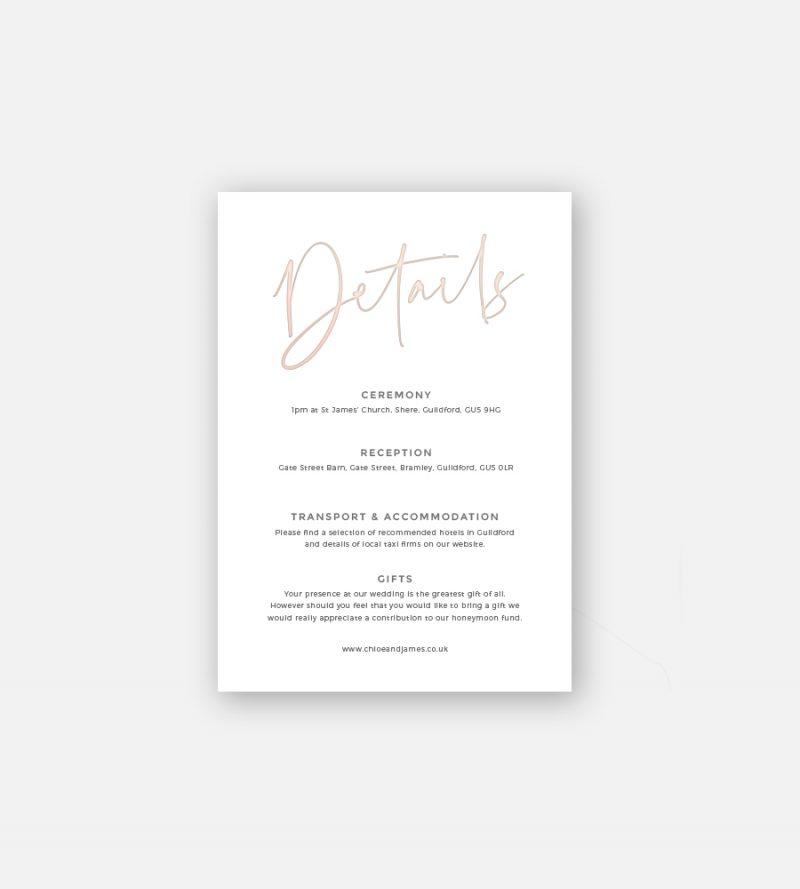 Juliet Details Card