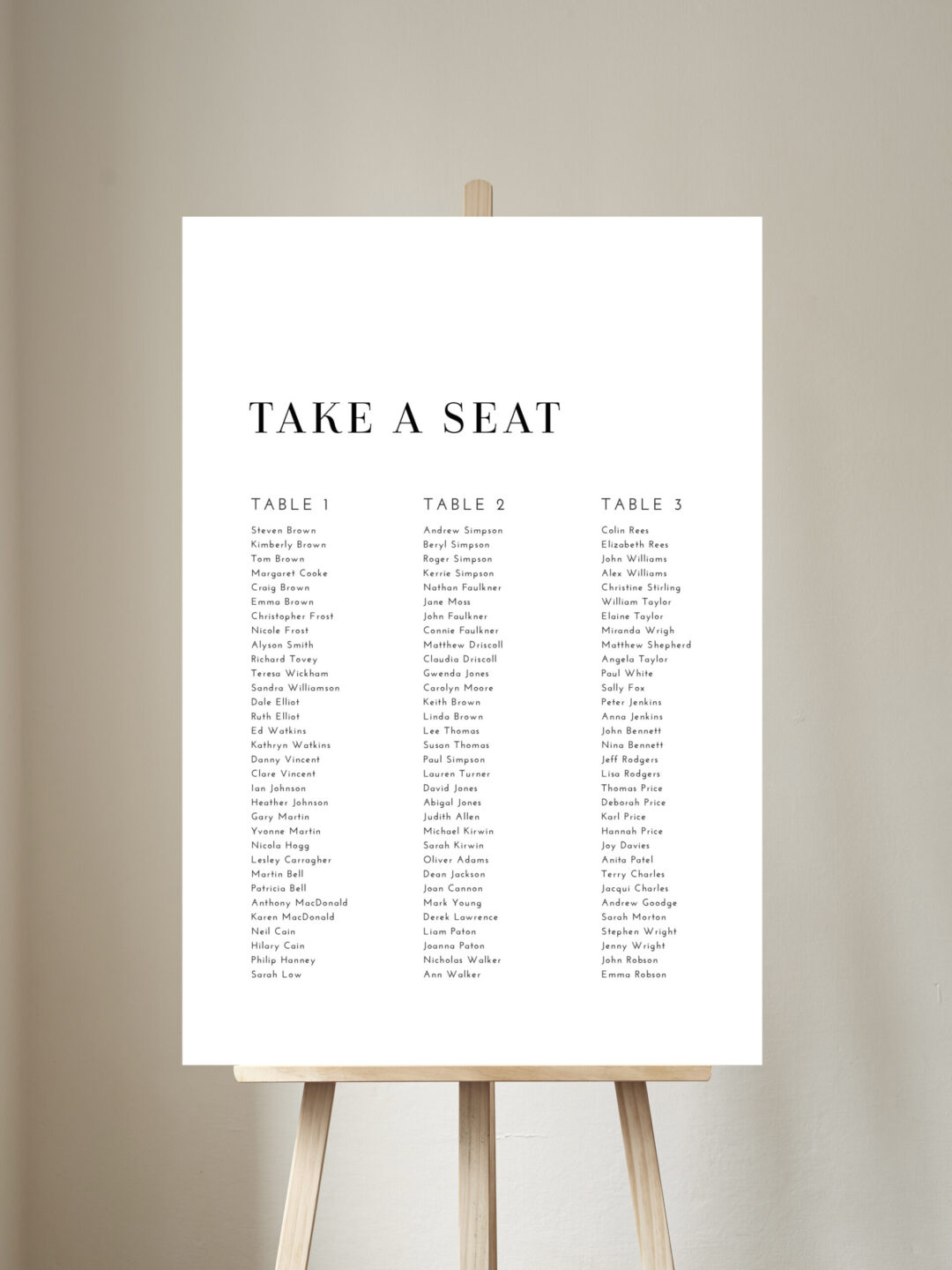 Cleopatra Table Plan
