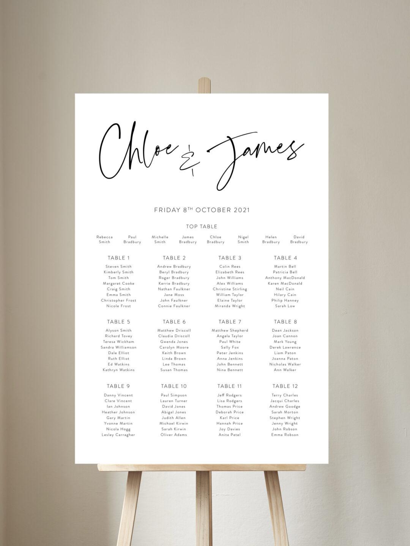 Juliet Table Plan