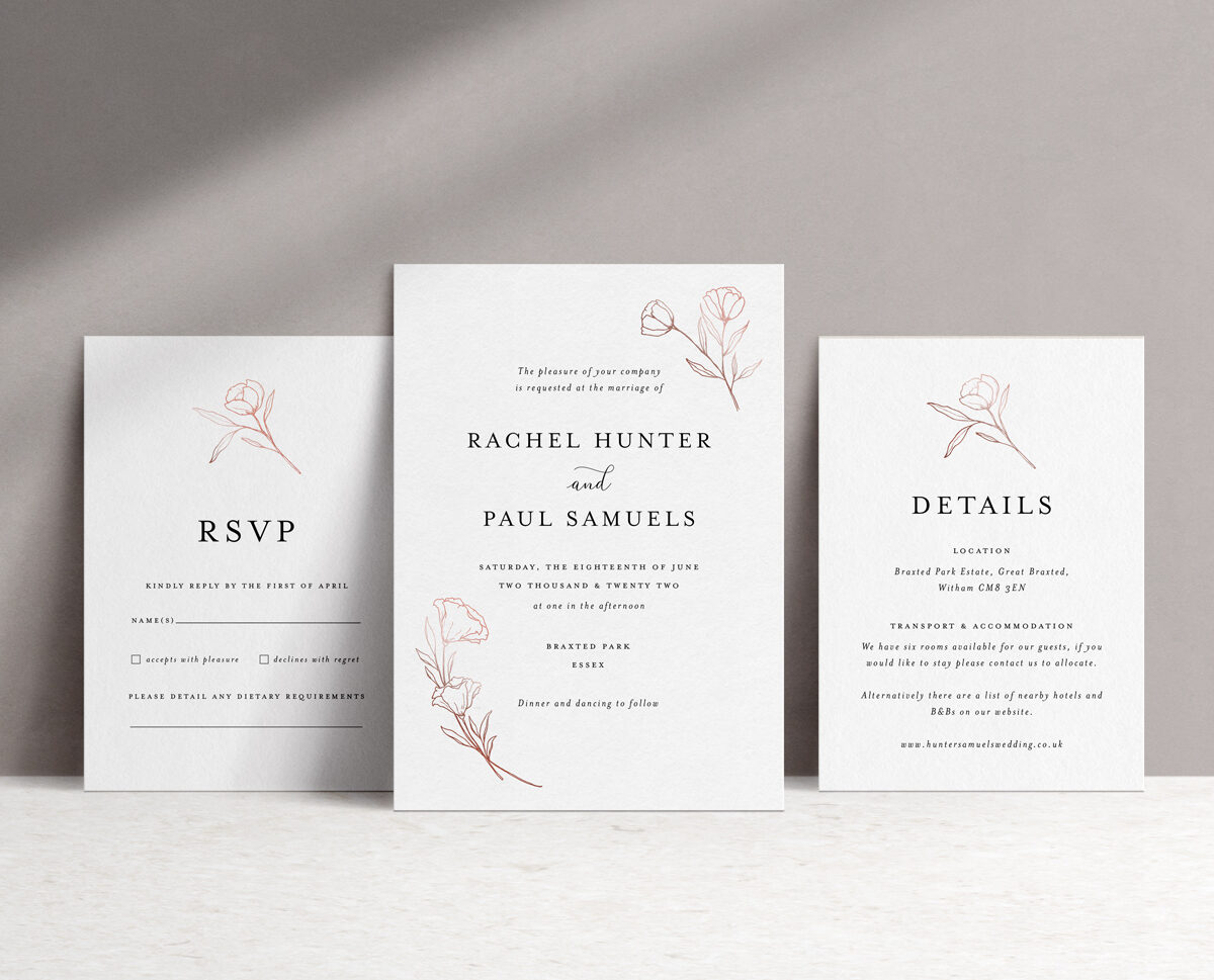 Ophelia Invitation Suite