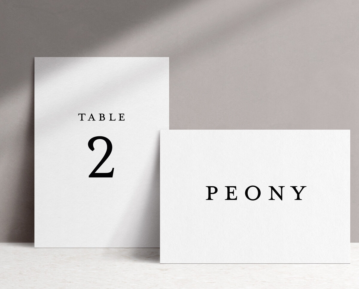 Ophelia Table Name / Number