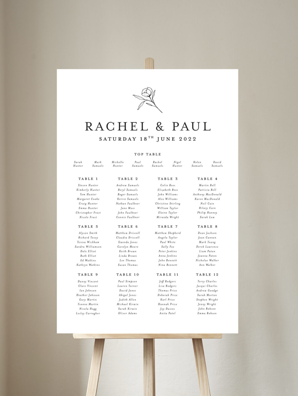 Ophelia Table Plan