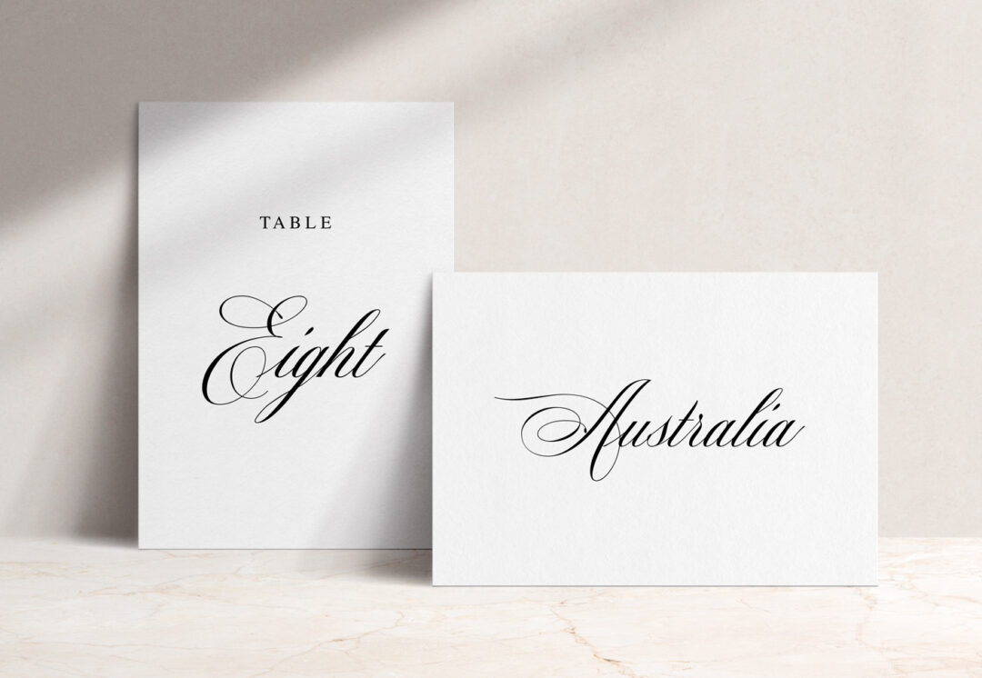 Windsor Table Name / Number