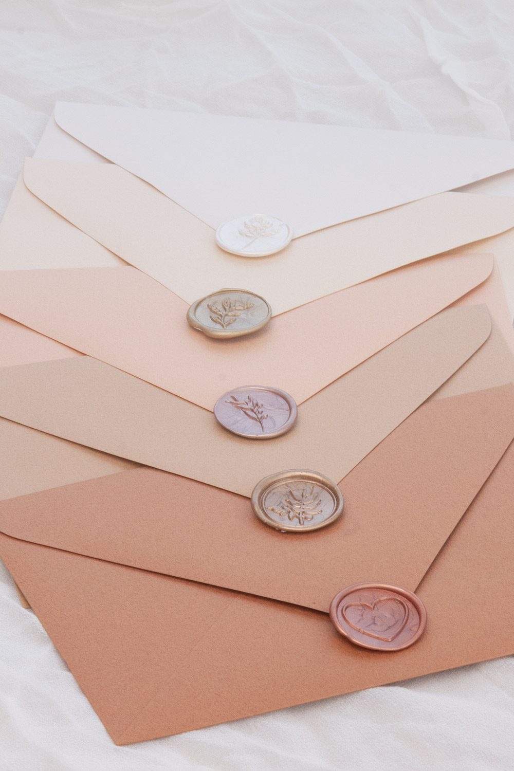 Envelopes with wax seals