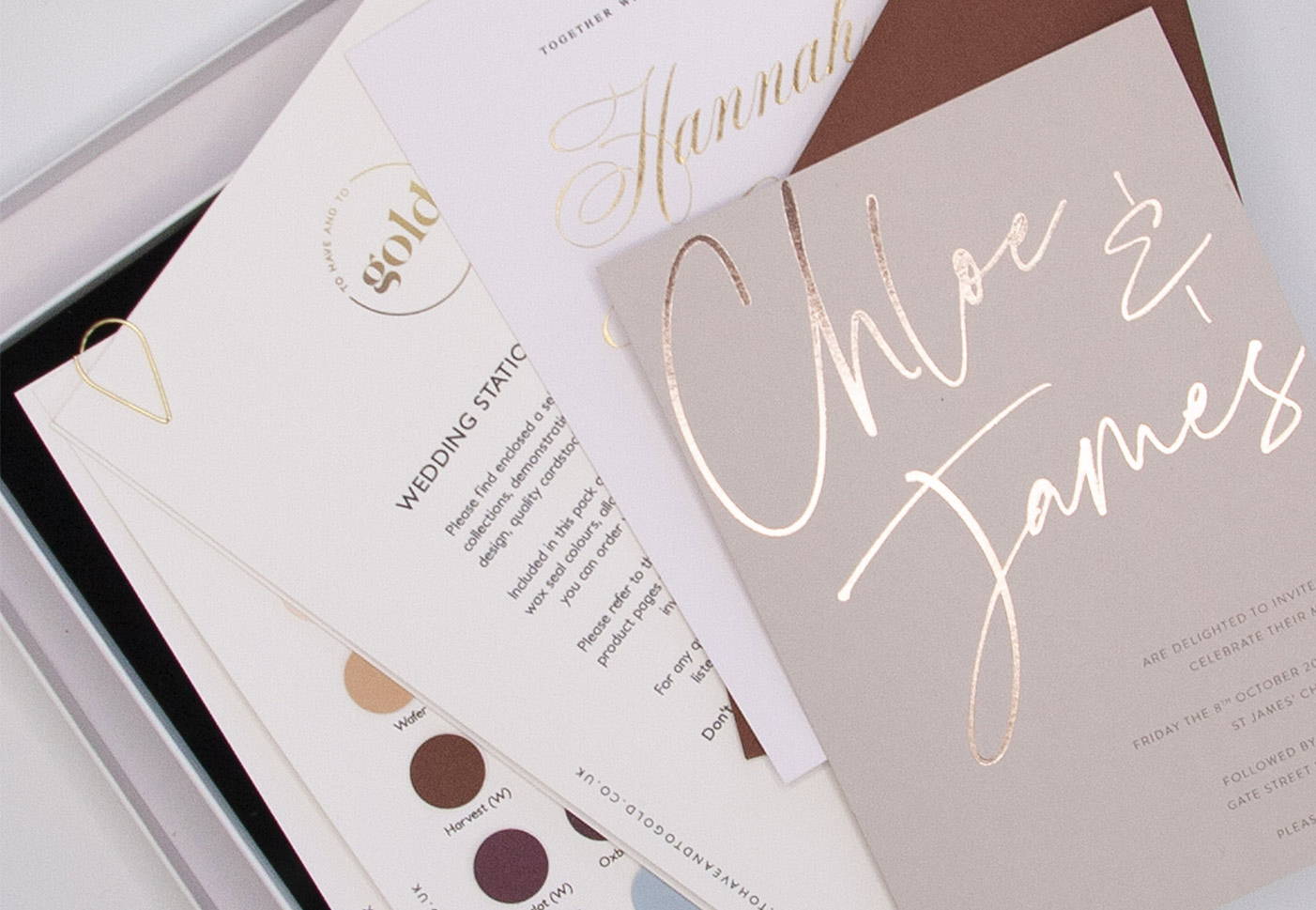 Hot Foil Invitations Sample Box